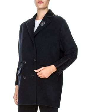 The Kooples Embroidered Peacoat