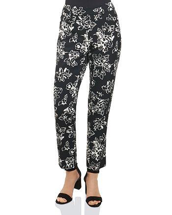 Foxcroft - Rachel Floral Print Ankle Pants