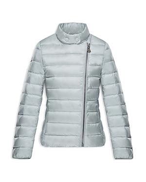 Moncler Girls Lightweight AsymmetricalZip Puffer Jacket  Big Kid