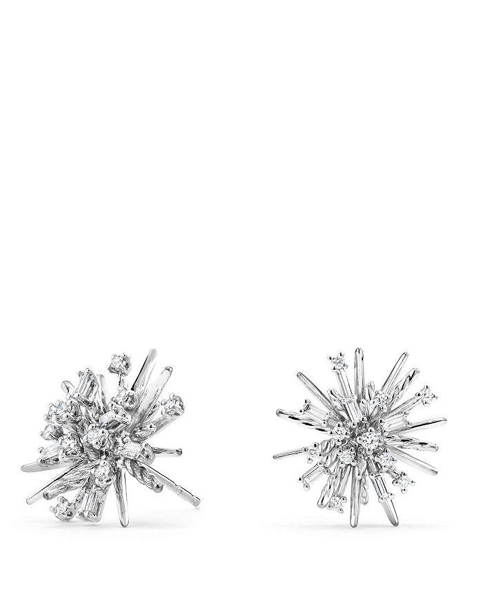 David Yurman - Supernova Stud Earrings with Diamonds in 18K White Gold