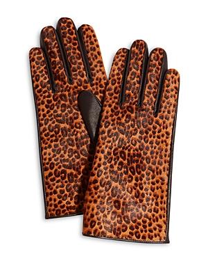 Karen Millen Printed Leather Gloves