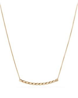 David Yurman - Paveflex Station Necklace in 18K Gold