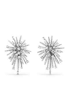 David Yurman - Supernova Climber Earrings with Diamonds in 18K White Gold