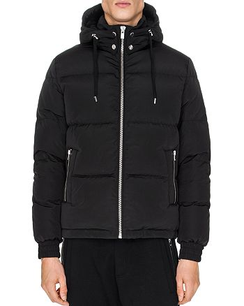 The Kooples - Nylon and Leather Down Coat