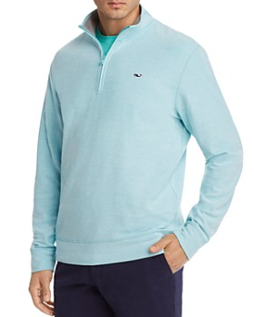 Vineyard Vines - Reverse Oxford Piqué Quarter-Zip Pullover