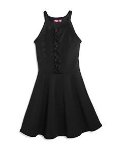 AQUA Girls' Textured Dress with Ruffled Bodice, Big Kid - 100% Exclusive - Bloomingdale's_0