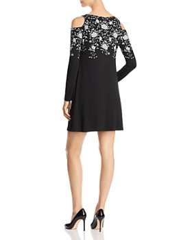 Robert Michaels - Floral Print Cold Shoulder Dress