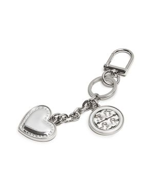Tory Burch Logo Heart Key Fob