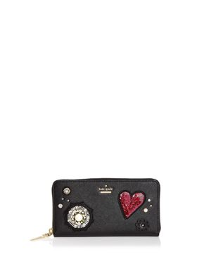 kate spade new york Lacey Embellished Leather Wallet
