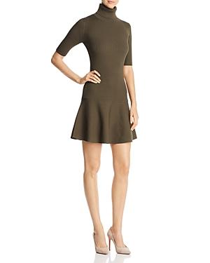 Michael Michael Kors Ribbed Turtleneck Flare Dress - 100% Exclusive