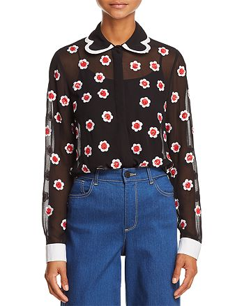 Alice and Olivia - Willa Embellished Top