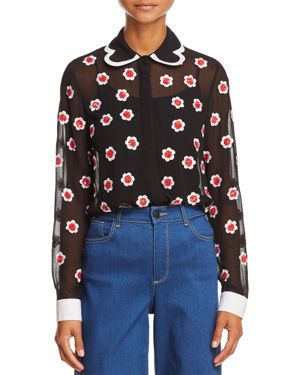 Alice and Olivia Willa Embellished Top