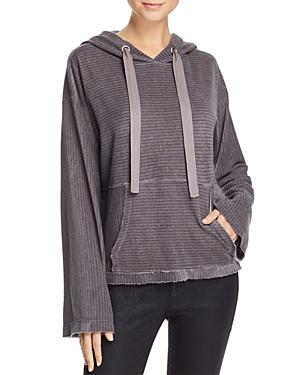 Bella Dahl Textured-Stripe Split-Back Hoodie