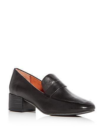 Gentle Souls by Kenneth Cole - Women's Eliot Leather Block Heel Loafers