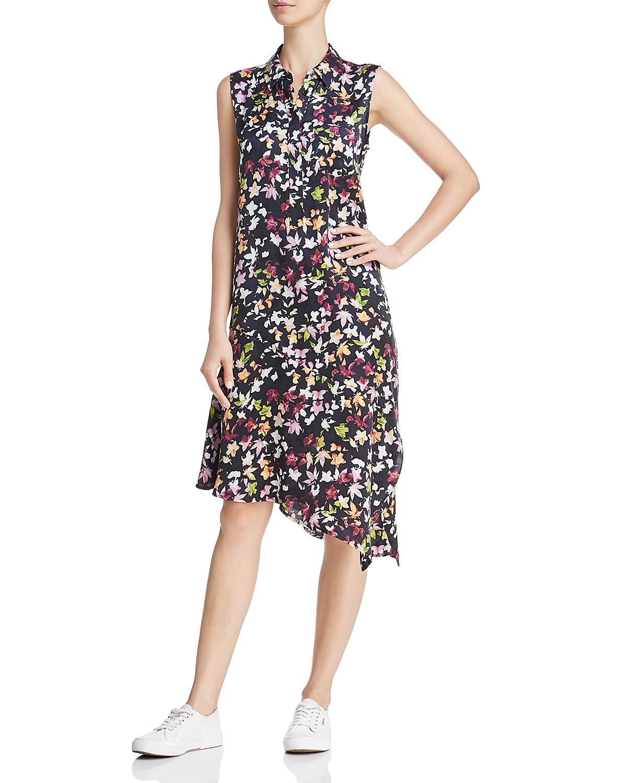 Printed silk dress Equipment 4m929