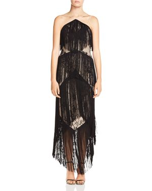 Haute Hippie Elixir of Life Tiered-Fringe Lace Dress 2805190