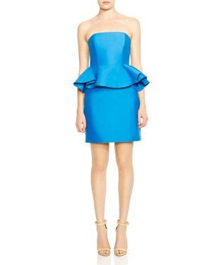 Halston Heritage Strapless Peplum Dress 2805220