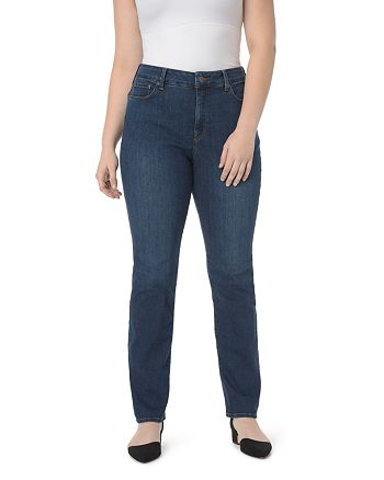 NYDJ Plus - Marilyn Straight Leg Jeans in Rinse
