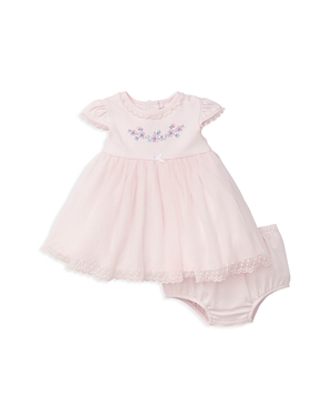 Little Me Girls Embroidered  Lace Dress with Bloomers  Baby