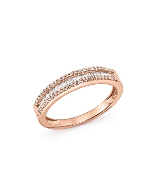 Bloomingdale's - Diamond Round & Baguette Band in 14K Rose Gold, 0.25 ct. t.w. - 100% Exclusive