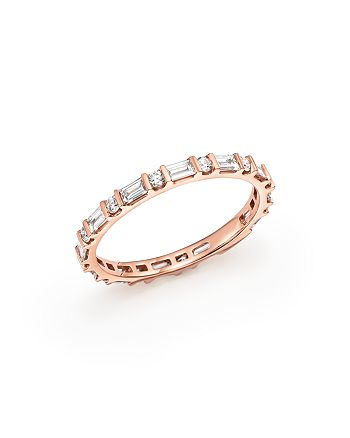 Bloomingdale's - Diamond Round & Baguette Band in 14K Rose Gold, 0.55 ct. t.w. - 100% Exclusive