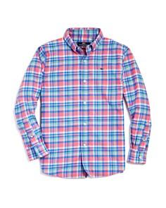 Vineyard Vines Boys' Plaid Flannel Whale Shirt - Big Kid - Bloomingdale's_0