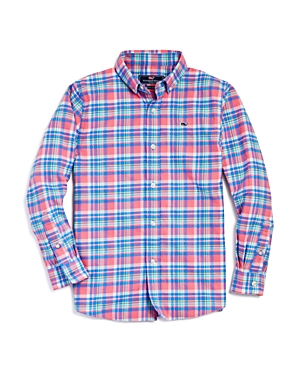 Vineyard Vines Boys' Plaid Flannel Whale Shirt - Little Kid
