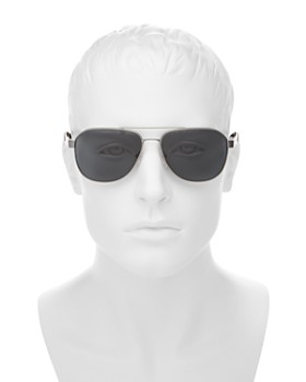Prada - Men's Polarized Punched Aviator Sunglasses, 60mm