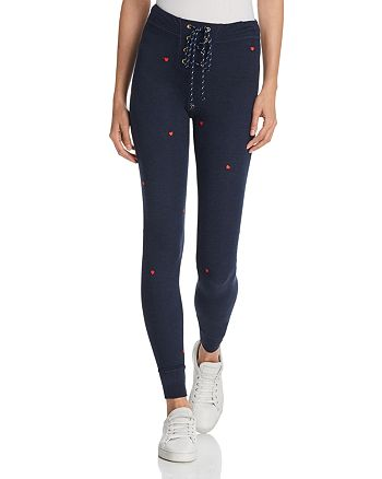 Sundry - Heart Lace-Up Jogger Pants