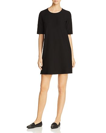 Eileen Fisher Petites - Round Neck A-Line Dress