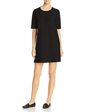 Eileen Fisher Petites Round Neck A-Line Dress