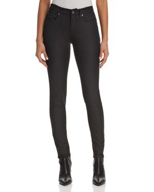 Eileen Fisher High-Rise Skinny Jeans in Black 2776276