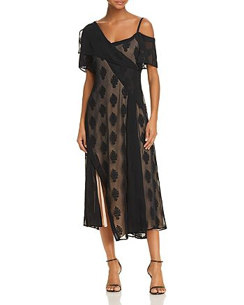 Theory - Asymmetric Cold-Shoulder Dress
