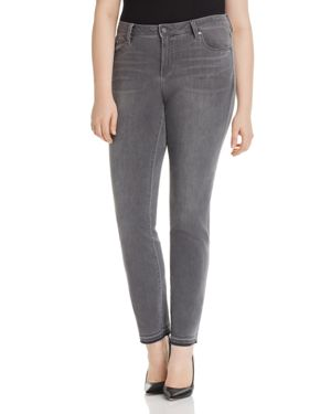 VINCE CAMUTO PLUS Released-Hem Ankle Jeans In Cobblestone