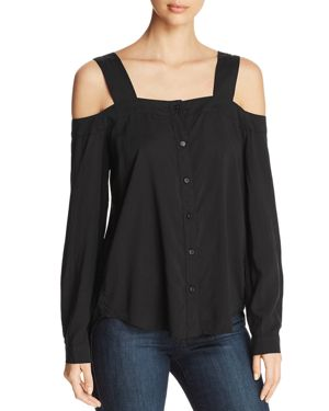 Side Stitch Cold-Shoulder Top