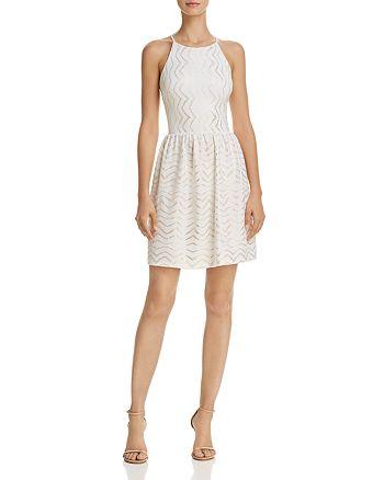 AQUA - Metallic Textured Dress - 100% Exclusive
