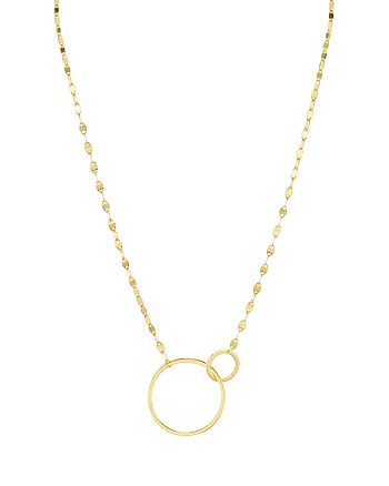 Argento Vivo - Interlocking Circles Necklace, 15""
