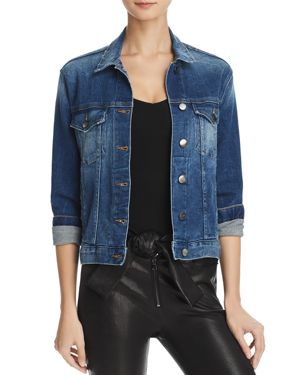 Denim Relaxed Cropped Jacket in Blair
