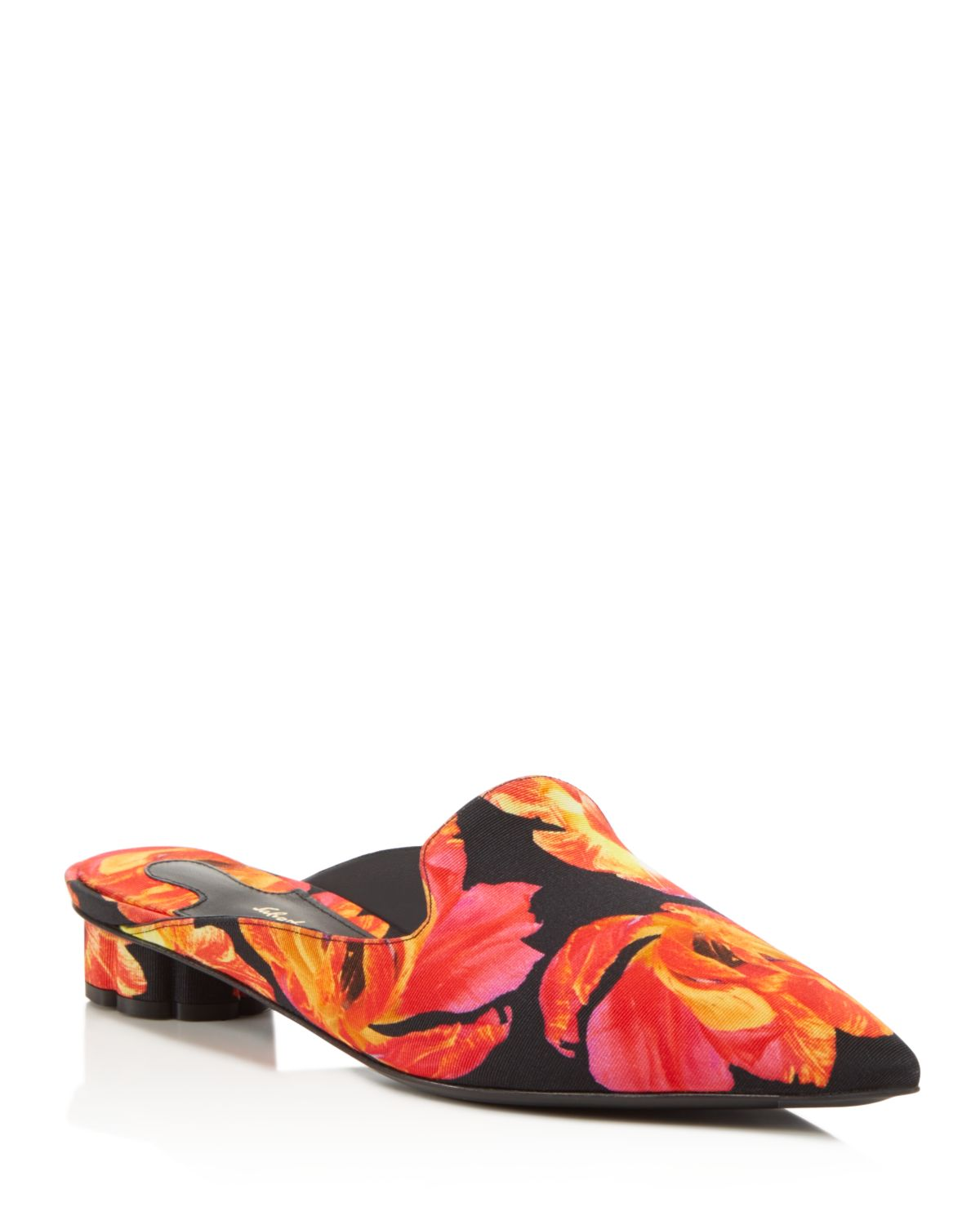 Salvatore Ferragamo Women's Floral-Print Pointed Toe Mules