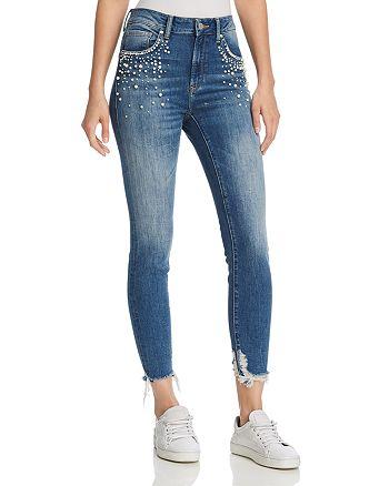 Mavi - Tess Embellished High Rise Skinny Jeans in Indigo Pearl