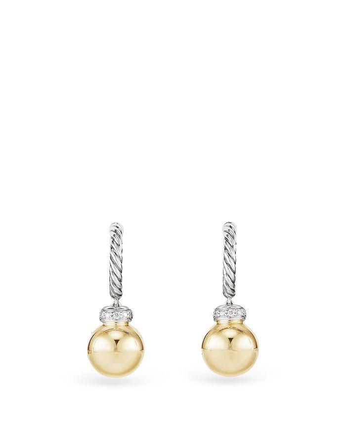 David Yurman - Solari Drop Earrings with Diamonds & 18K Gold