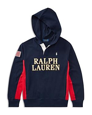 Ralph Lauren Childrenswear Boys Rugby Hoodie  Big Kid