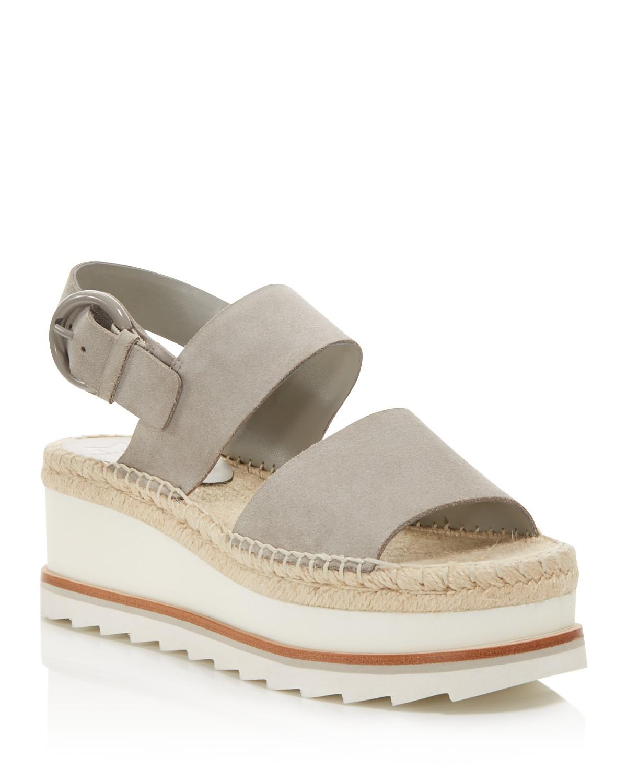 MARC FISHER Women's Greely Suede Espadrille Wedge Platform Sandals - 100% Exclusive GhRzV