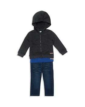 Hudson - Boys' Zip-Up Hoodie, Skull Tee & Jeans Set - Baby