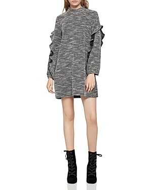 BCBGeneration Ruffle-Trimmed Sweater Dress