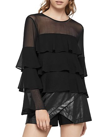 BCBGENERATION - Tiered Ruffle Top