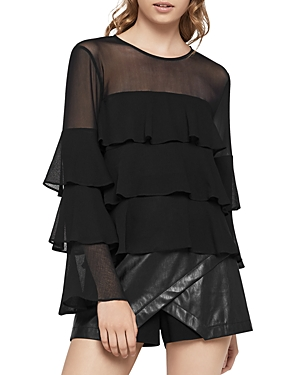 BCBGeneration Tiered Ruffle Top