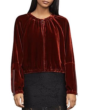 Bcbgmaxazria Cruz Cropped Velvet Jacket
