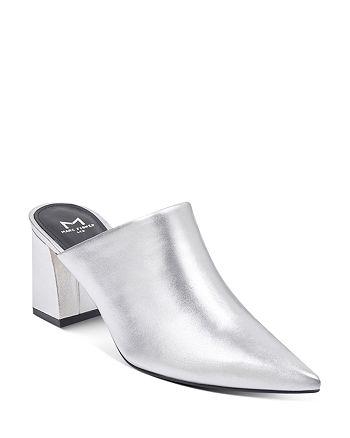 Marc Fisher LTD. - Women's Zivon Leather Pointed Toe Block Heel Mules