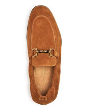 Salvatore Ferragamo Men's Celso Suede Apron Toe Loafers gJChtHZW7L